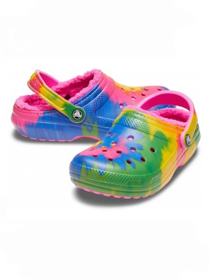 Сабо Classic Lined Tie Dye Clog